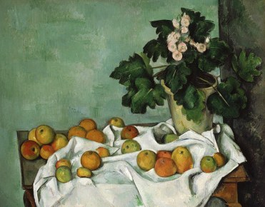 Paul Cézanne, Still Life with Apples and a Pot of Primroses, ca. 1890