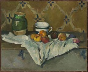 Paul Cezanne, Still Life with Jar, Cup and Apples c.1877
