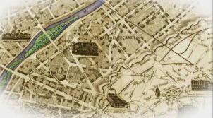 map showing the island of La Grande Jatte
