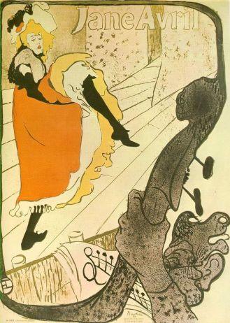 Toulouse Lautrec, Avril (Jane Avril), 1893