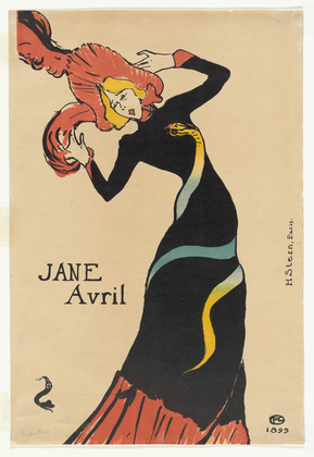 Toulouse Lautrec, Jane Avril, 1899
