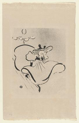 Toulouse Lautrec, Jane Avril, first plate from Le Café Concert, 1893