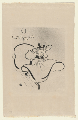 Toulouse Lautrec, Jane Avril, first plate from Le Café Concert, 1893