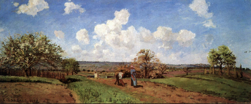 Camille Pissarro, The Four Seasons, Spring, 1872