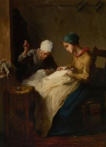 Jean Francois Millet, The Young Seamstress