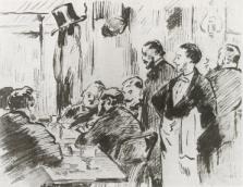 Manet, Au Café Guerbois, 1869