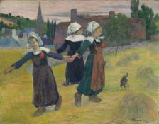 Paul Gaugin, Breton Girls Dancing, Pont Aven, 1888