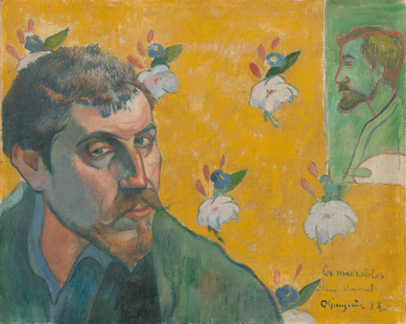 Paul Gauguin, Self-portrait with portrait of Bernard, 'Les Misérables', 1888