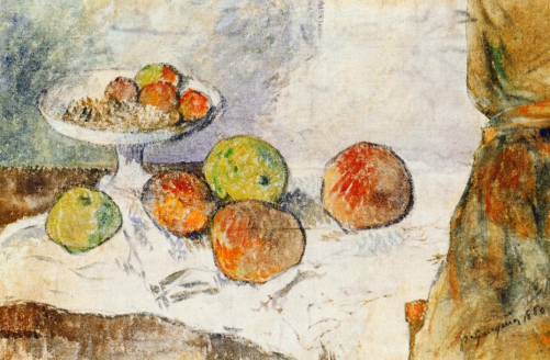 Paul Gaugin, Still Life with Fruit Plate, 1880