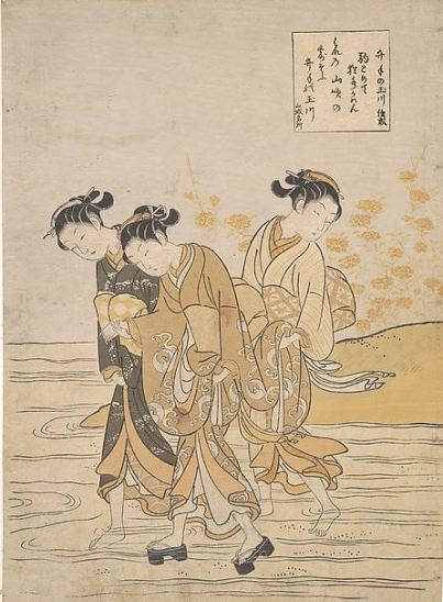 Suzuki Harunobu, Jewel River at Ide, c 1768