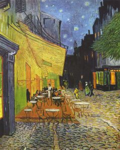 Van Gogh, The Café Terrace on the Place du Forum, Arles, at Night, 1888