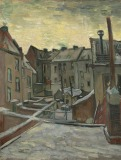 vincent van gogh, Houses seen from the Back, 1885-86