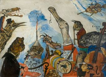 James Ensor, The Frightful Musicans, 1891