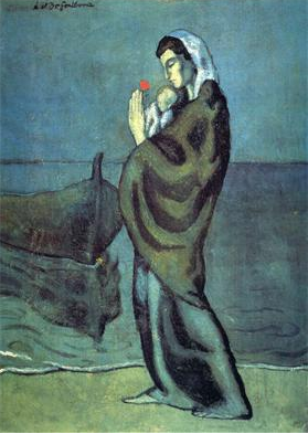 Pablo Picasso, Mother and Child on the Beach, 1902