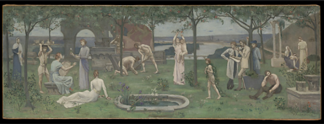 Pierre-Cécile Puvis de Chavannes, Between Art and Nature, ca. 1890–95