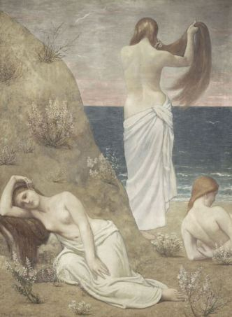 Puvis De Chavannes, Young Girls by the Seaside, 1887