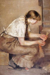 Edvard Munch, Girl Kindling a Stove, 1883