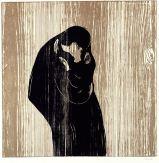 Edvard Munch, Kiss IV, woodcut