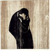 Edvard Munch, Kiss IV, woodcut