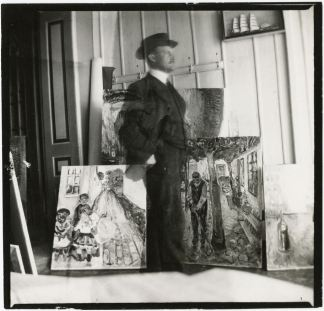Edvard Munch, Self Portrait (photograph)