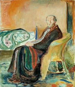 Edvard Munch, Self Portrait with the Spanish Flu, 1919