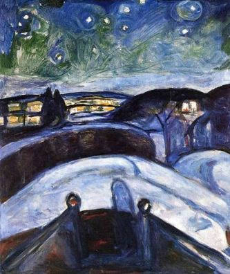 Edvard Munch, Starry Night, 1922-4