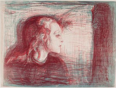 Edvard Munch, The Sick Child, 1896 (lithograph)