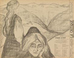 Edvard Munch, Theatre programme for Peer Gynt by Henrik Ibsen, 1896