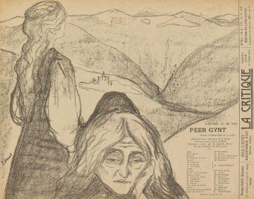 Edvard Munch, Theatre programme for Peer Gynt by Henrik Ibsen, 1896