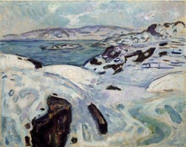 Edvard Munch, Winter on the Coast, 1915