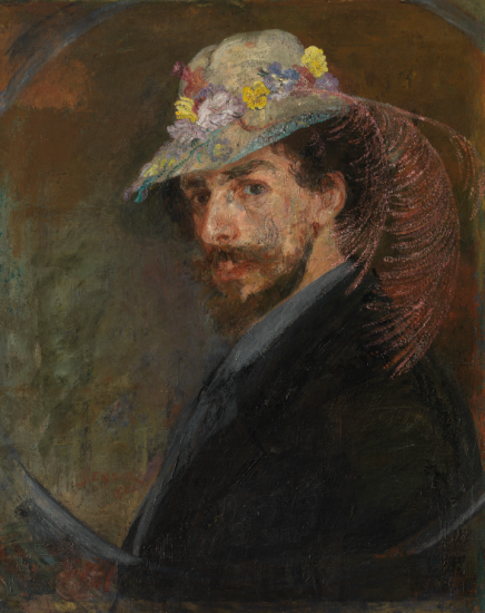 James Ensor, Ensor with Flowered Hat, 1883 - 1888