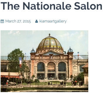 The Nationale Salon