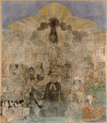 James Ensor, Christ's entry into Brussels, 1898