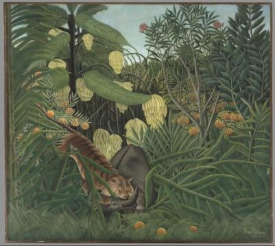 Henri Rousseau, Fight between a tiger and a Buffalo, 1908