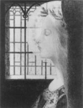 Jeanne Jacquemin, Marjolaine de la purete, c1893, lithograph with chine colle