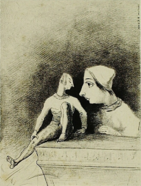 Odilon Redon, Felinerie, 1879