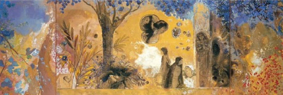 Odilon Redon, Night, Library of Fontfroide Abbey, 1910-12