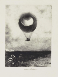Odilon Redon, The Eye like a Strange Balloon Mounts toward Infinity, 1882