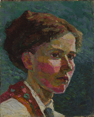 Grace Cossington Smith, Study of A Head, Self Portrait, 1916