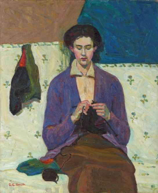 Grace Cossington Smith, The Sock Knitter, 1915