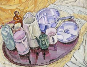 Grace Cossington Smith, Things on an Iron Tray on the Floor, c 1928, Art Gallery of New South Wales