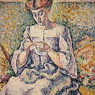 Lucie Cousturier, Femme faisant du crochet (vers 1908)