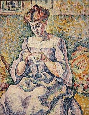 Lucie Cousturier, Femme faisant du crochet, c1908