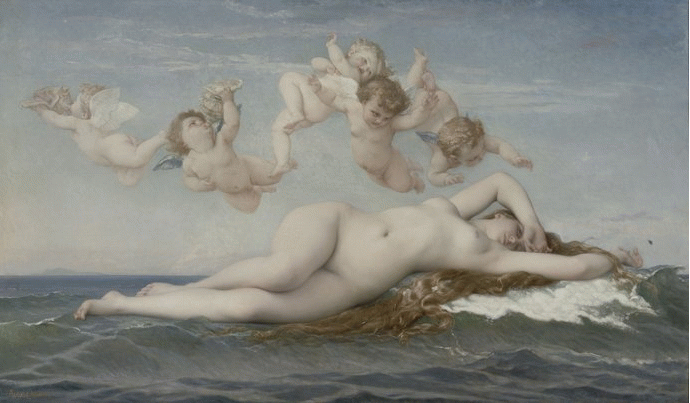 Alexandre Cabanel, The Birth of Venus, 1863
