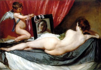 Diego Velaquez, Venus at Her Mirror (The Rokeby Venus), 1650