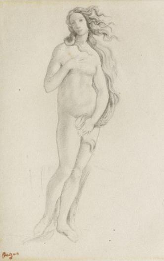 Edgar Degas, Venus (nach Botticelli), 1859