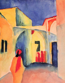 August Macke, View into a Lane, 1914