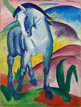 Franz Marc, Blue Horse, 1 1911