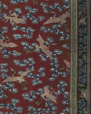 Broderies Chinoises, PL.18 Robe en eyamine et ornament de galons soie brochee, 23cm x 16.5cm
