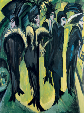 Kirchner, Five Women on the Street, 1913